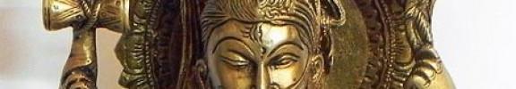 Notre Symbole : Ardhanarishvara ou le shiva cosmique.