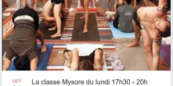 21 Octobre : cours Mysore du lundi